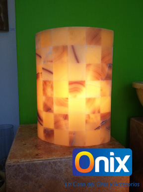 Lámpara elíptica con tapa
